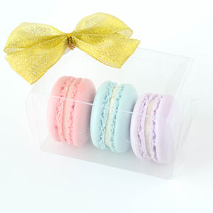 3pcs Macarons (Classic Flavour) | Wedding Favor or Door Gift | Elegant Gift for Special Event