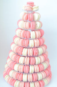 10-Tier Grand Macaron Tower (200pcs Classic or Premium or Marvelous Macarons) | Includes Free Tower | Grand Luxury Display of Macarons