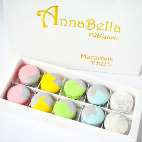 10pcs Marvellous Macarons (Marvellous 2) in Gift Box and Paper Bag