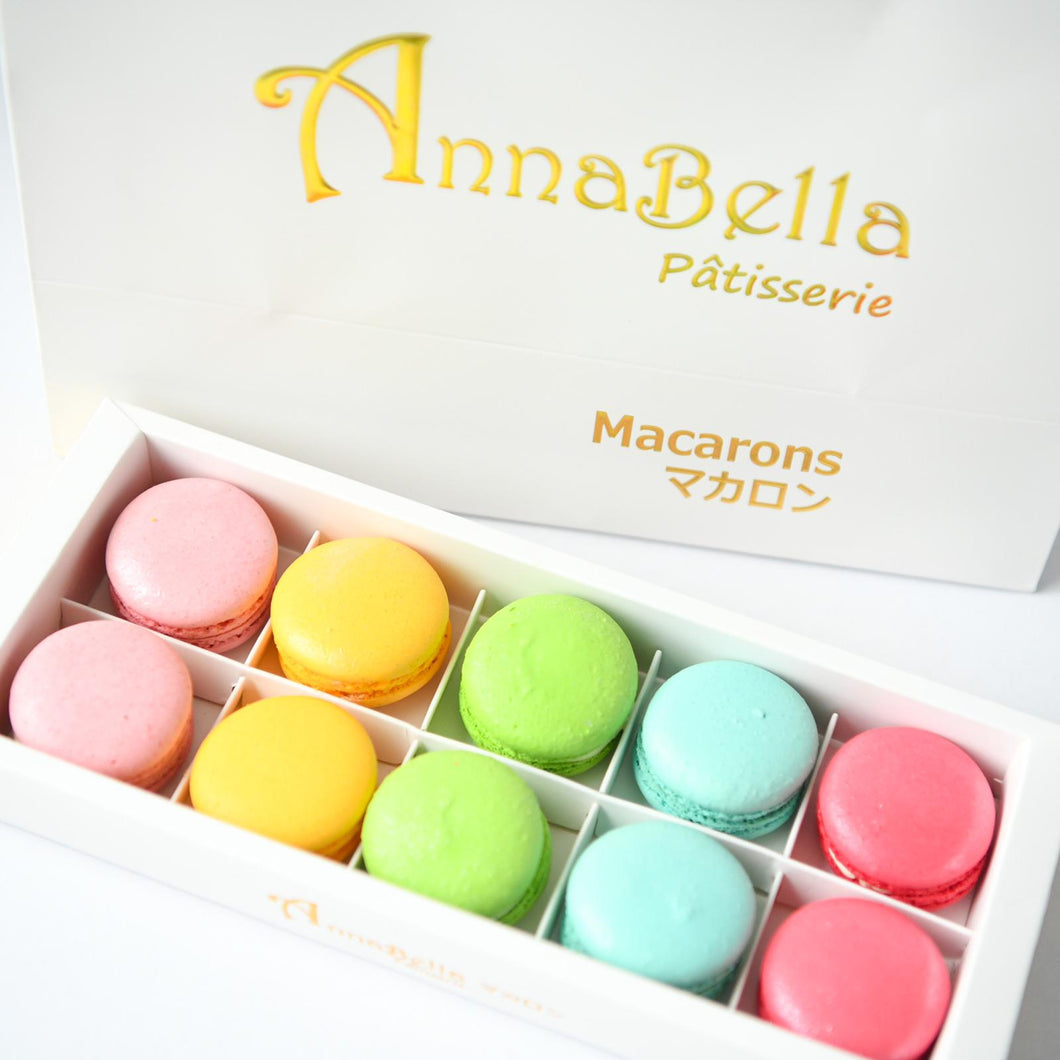 10pcs Classic Macarons (Premium1) in Gift Box and Paper Bag