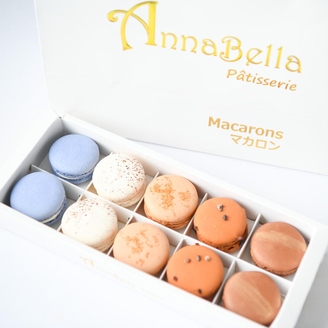 10pcs Classic Macarons (Premium2) in Gift Box and Paper Bag | Perfect Gift Choice