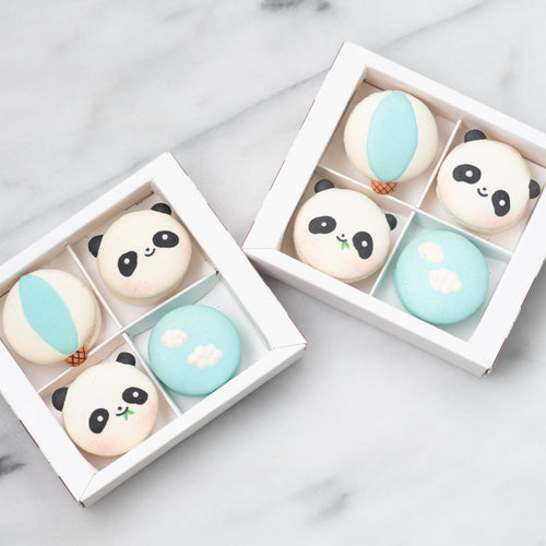 4pcs Panda Macaron Gift Box |  50% Off |  1st 100 Orders | Use Code: STAYHAPPY50 | $11.90