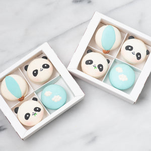 Sales! | 4pcs Panda Macaron Gift Box |  50% Off |  1st 100 Orders | Use Code: STAYHAPPY50 | $11.11 Only!