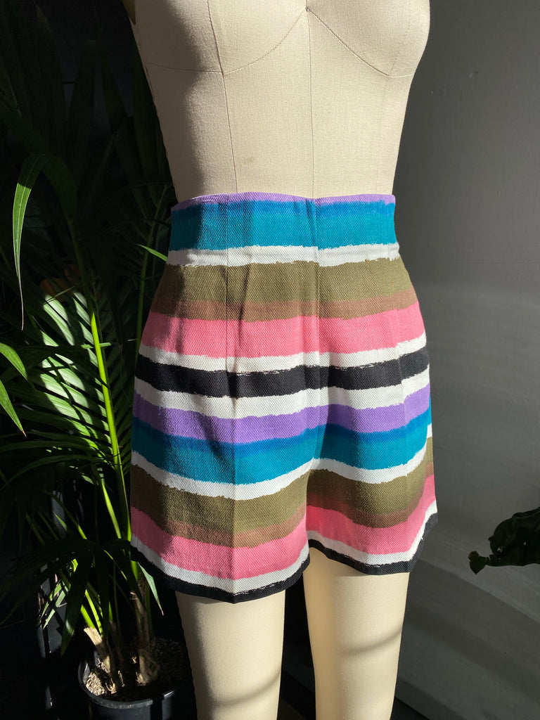 Striped Woven Hot Shorts