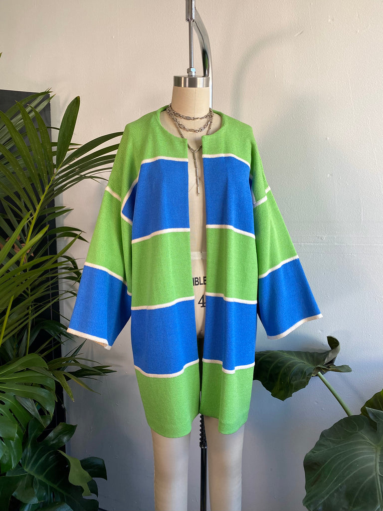 St. John Color Blocked Cardigan
