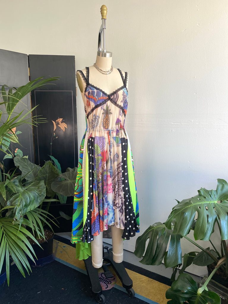 Koché Mixed Print Tank Dress