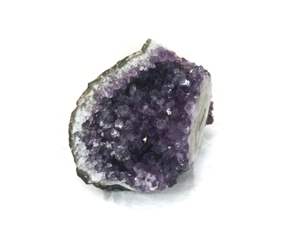Palm Sized Amethyst Cluster with Stalactite Eye