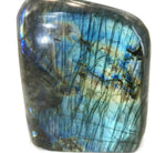 Yellow, Red and Blue Labradorite Freeoform