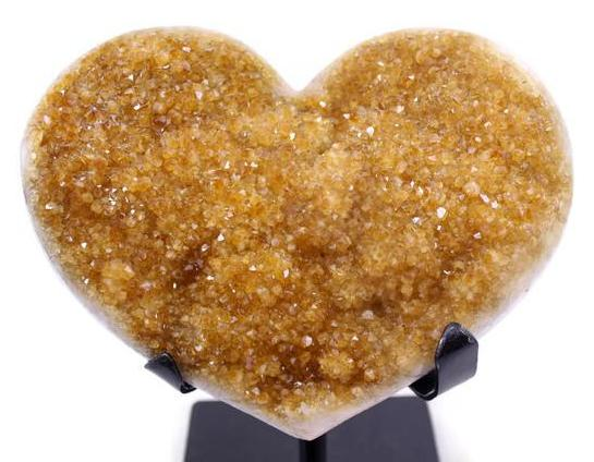Heart Shaped Citrine Cluster