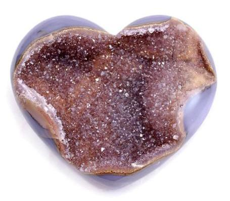 Quartz Crystal with Agate Heart