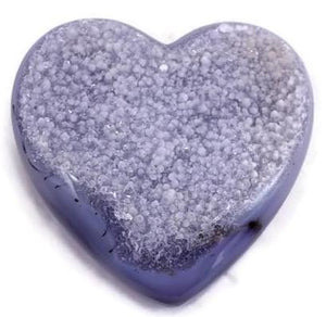 Quartz Crystal and Blue Agate Heart