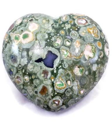 Rainforest Jasper Heart