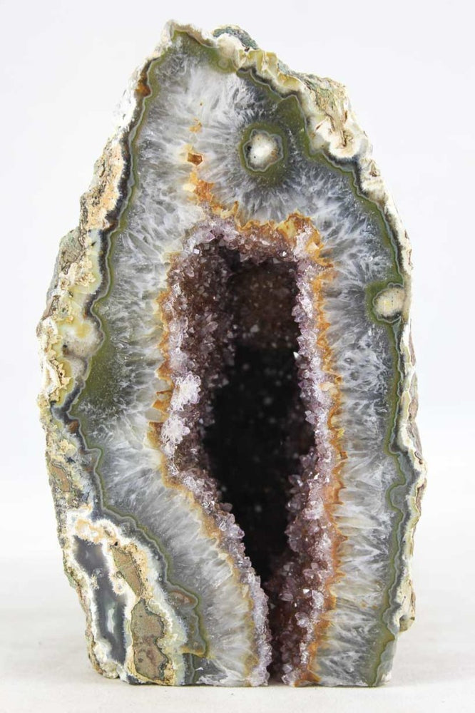 Red Amethyst & Agate Geode