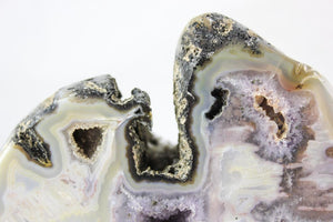 Polished Agate Geode Pair