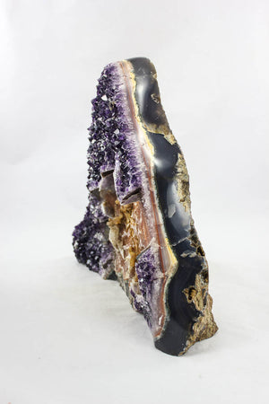 Uruguayan Amethyst with Special Calcite Crevice & Formations
