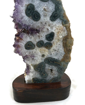 Agate Eyed Amethyst Sculpture