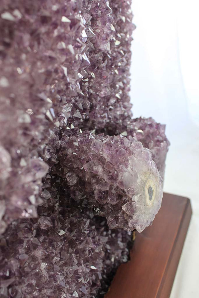 Amethyst with Stalactite Eyes