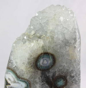 Agate & Quartz Crystal w/ Eyes