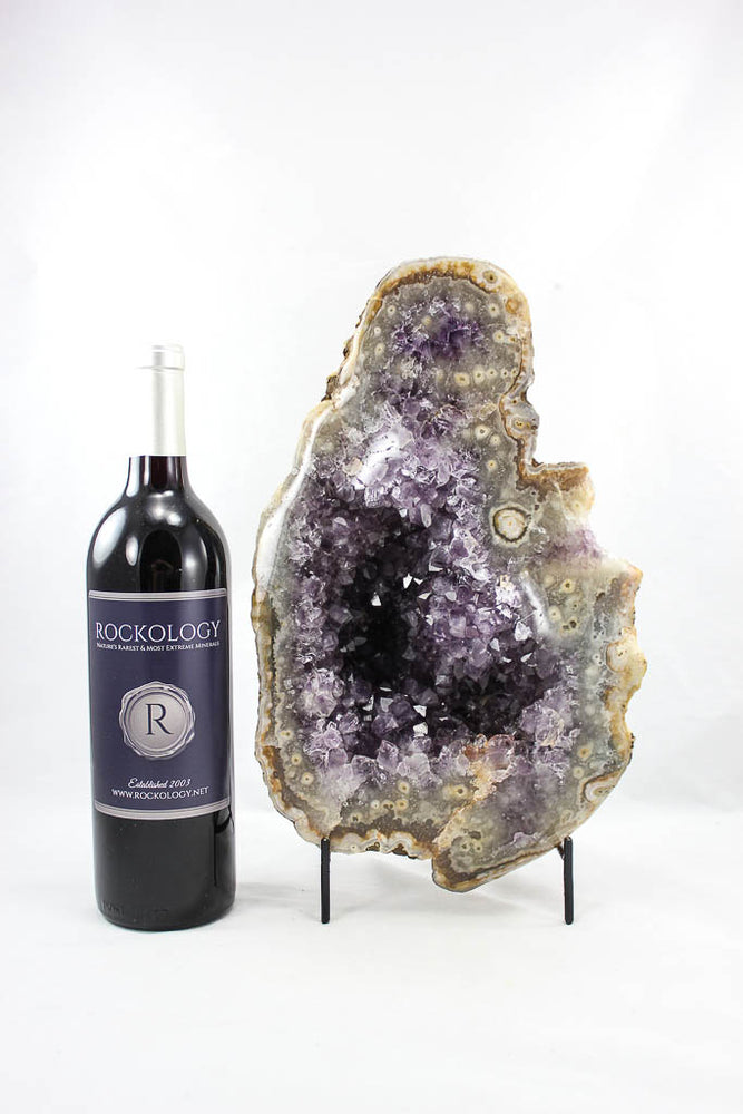 Uruguayan Amethyst and Agate Geode