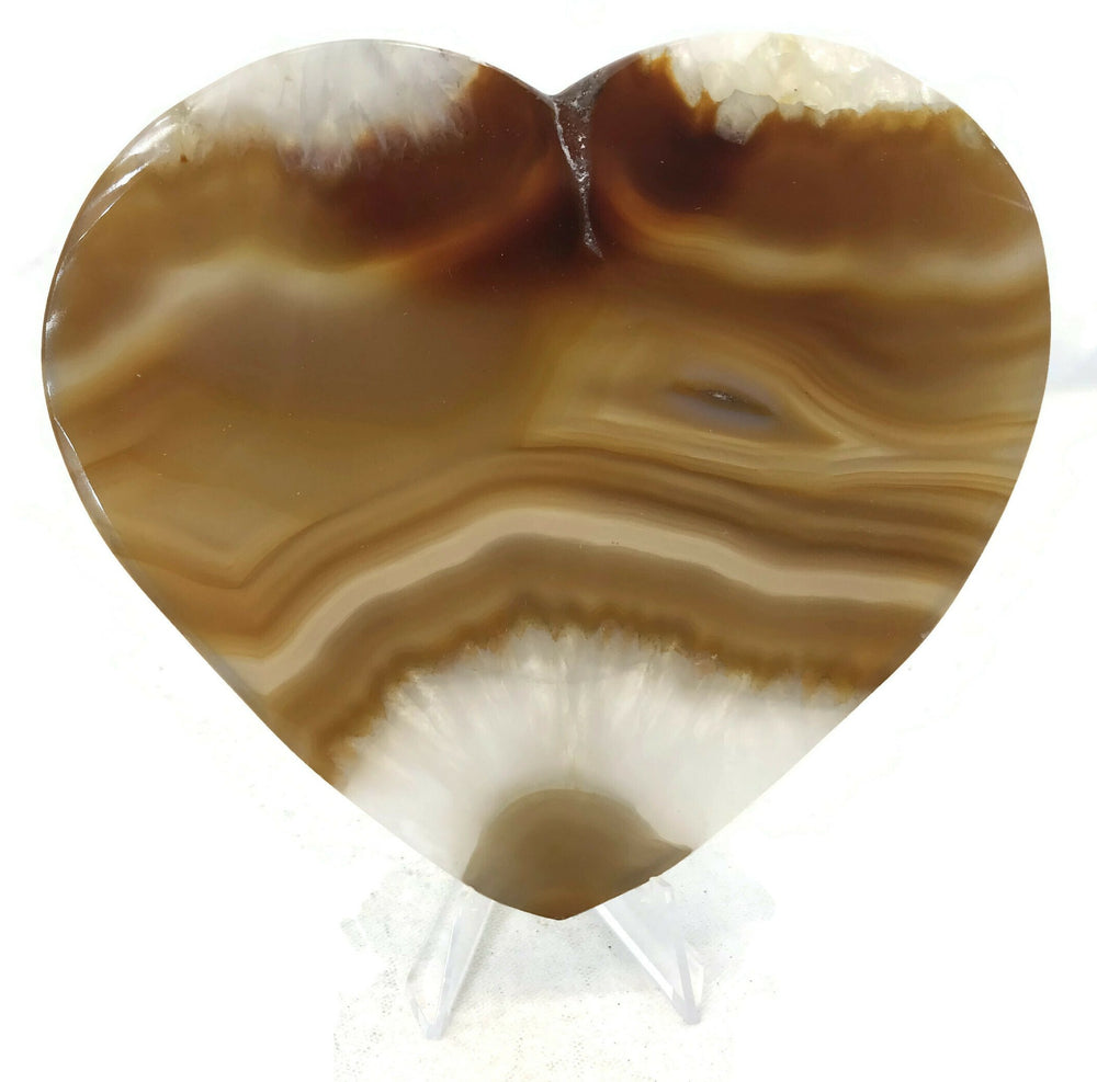 Translucent Hand Polished Agate Heart