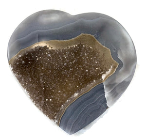 Banded Blue Agate Surrounds Microcrystalline Quartz Heart