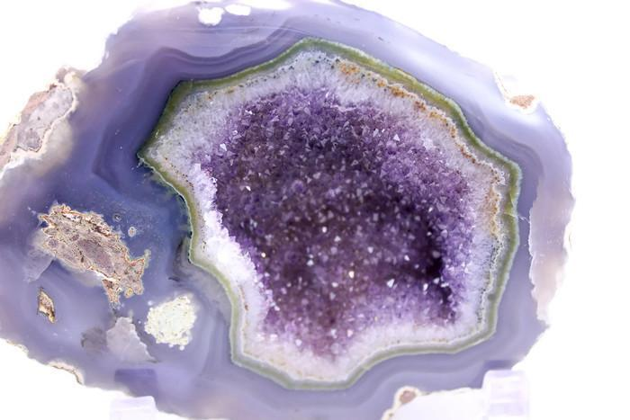 Perfectly Banded Agate and Amethyst Geode