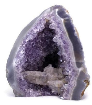 Amethyst with Sparkling Calcite