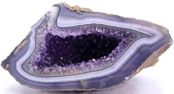 Uruguayan Amethyst with Green and Blue Agate