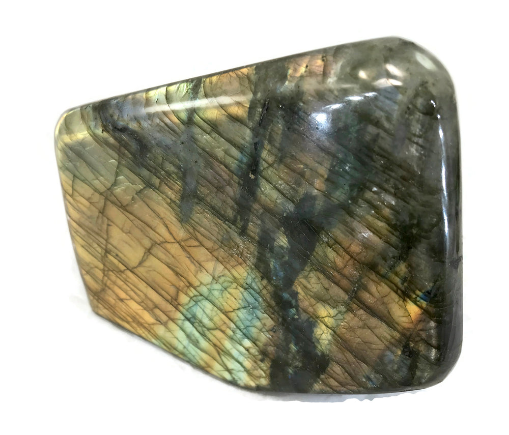 Yellow and Orange Flashy Labradorite