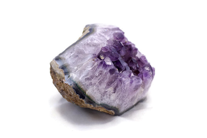 Amethyst framed by Green and Blue Agate Nodule