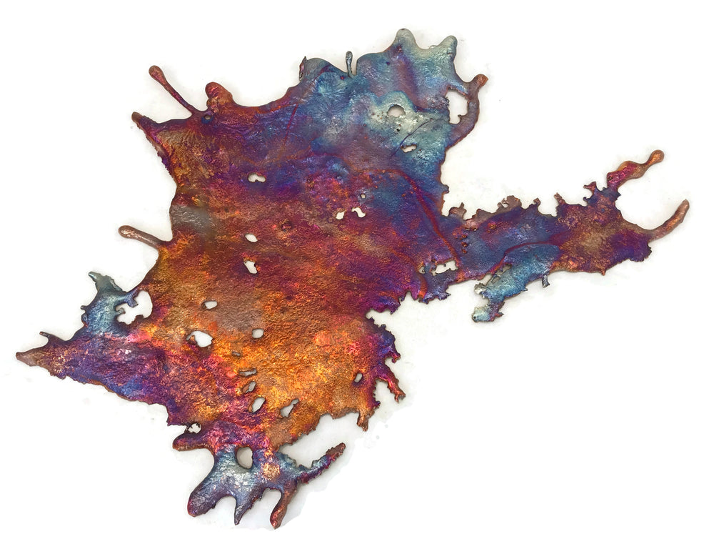 Rainbow Copper Splash Wall Art