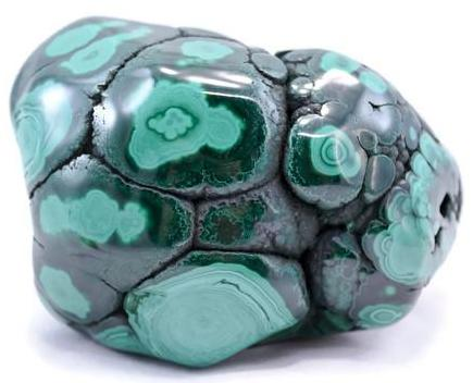 Polished African Malachite