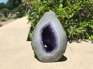 Perfect Blue Banded Amethyst Geode