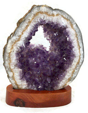Translucent Amethyst and Agate Slab