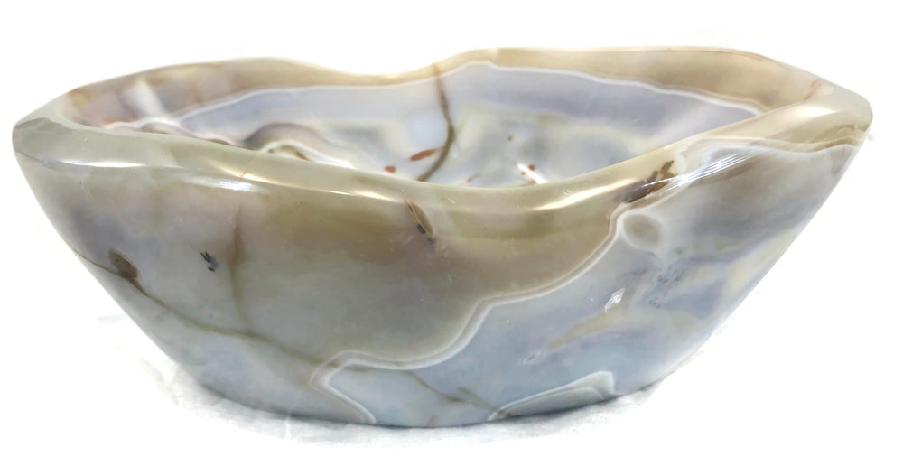 Pastel Banded Agate Bowl