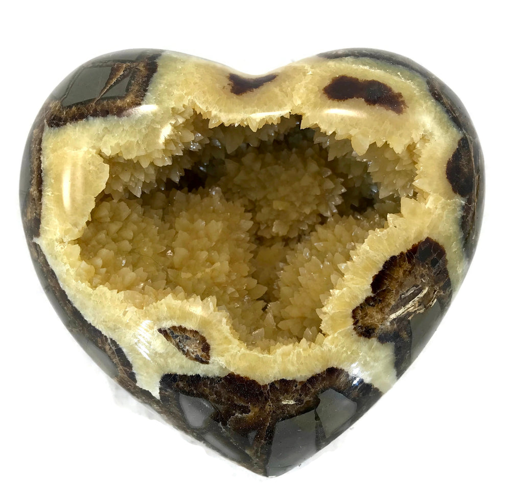 Crystal Filled Septarian Heart