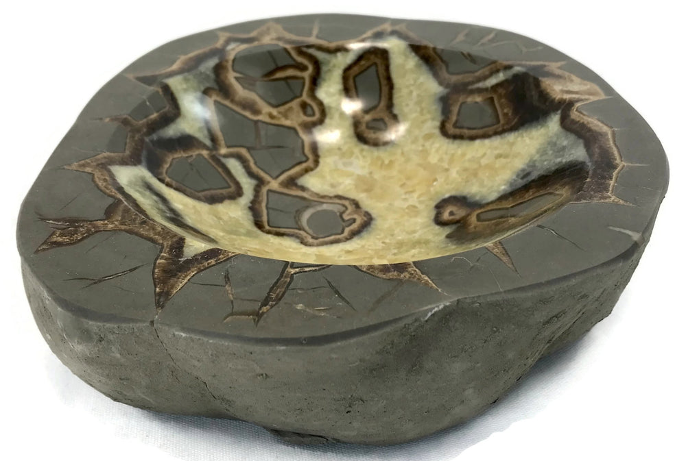 Ornately Patterned Septarian Bowl
