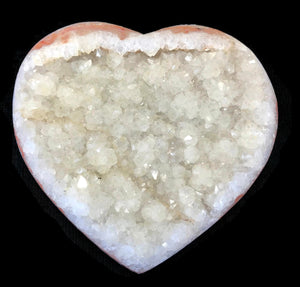 Quartz Crystal Covered Agate Heart