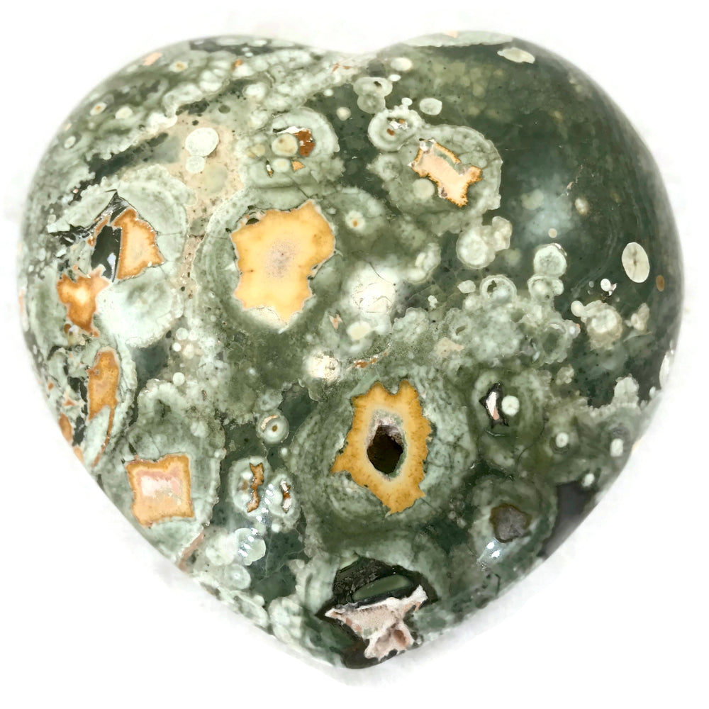 Speckled Rainforest Jasper Heart