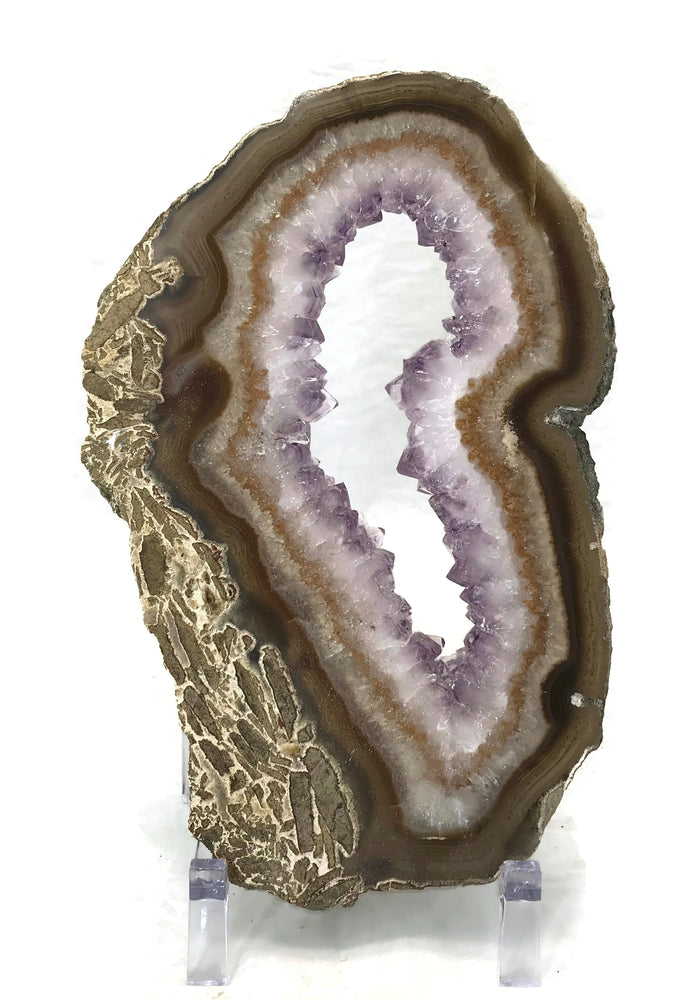 Large Amethyst Crystal Lined Slice