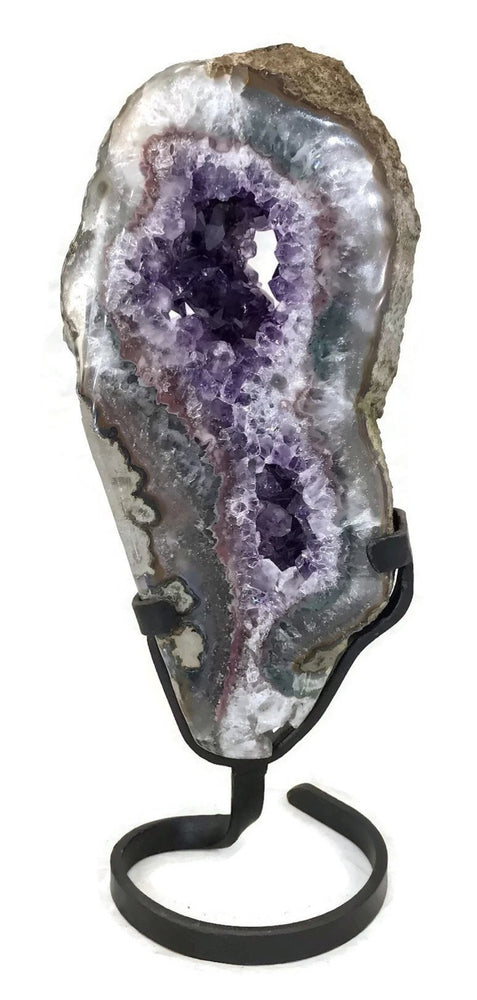 Colorful Agate with Amethyst Slab