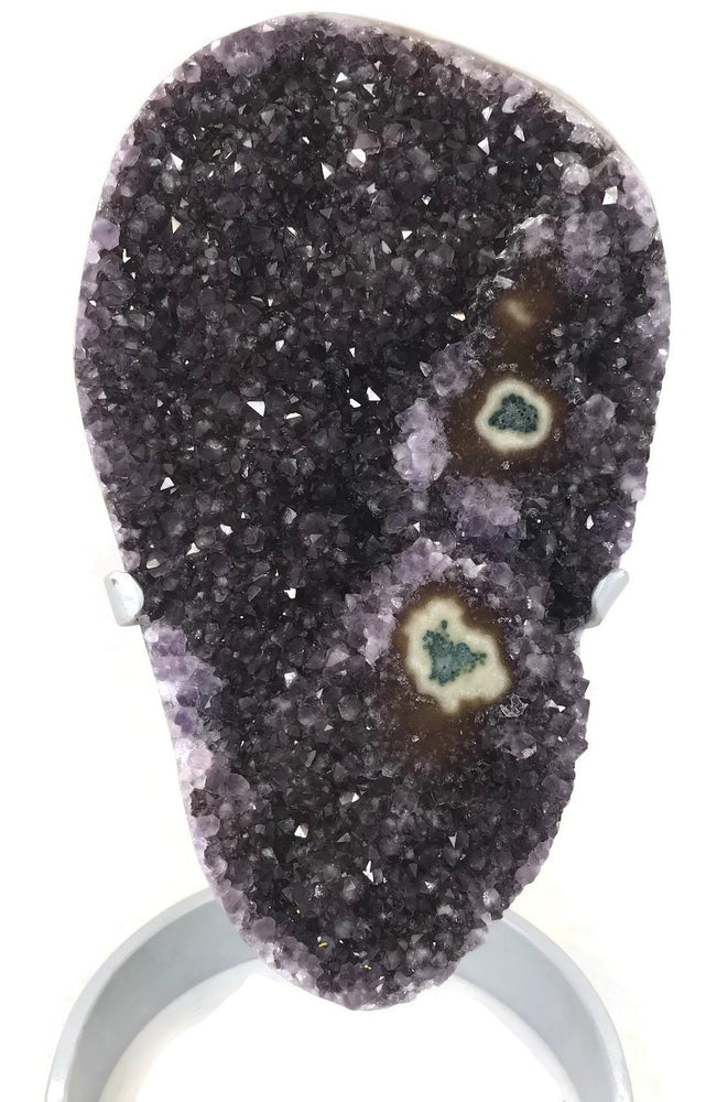 Amethyst Crystals with Agate Eyes
