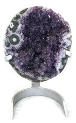 Amethyst with Green Agate Eyes