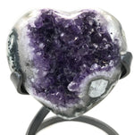 Hand polished Amethyst Heart
