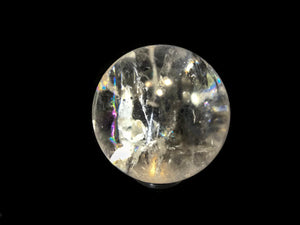 Clear Quartz Crystal Sphere with Multiple Mini Rainbows