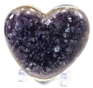 Amethyst with Colorful Agate Heart