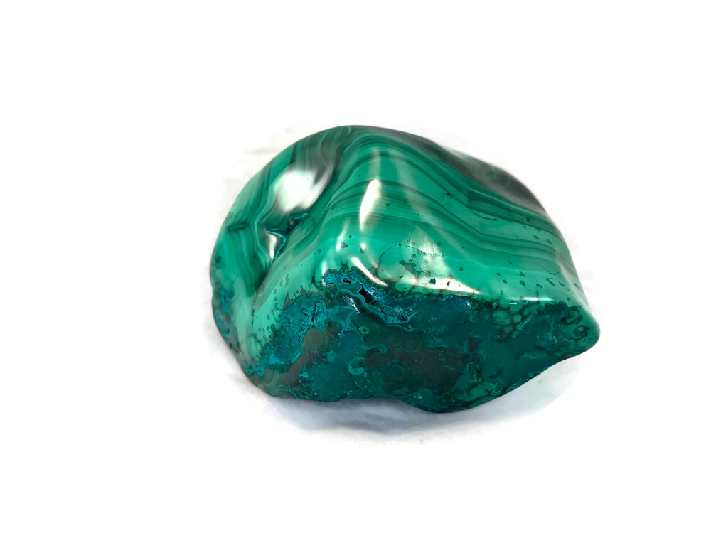 Polished Malachite with Chrysocholla