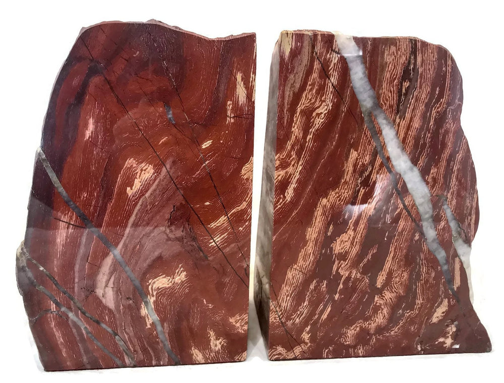 Red Jasper Bookends