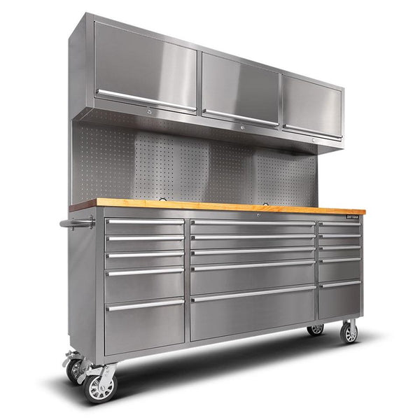 1.8M Stainless Steel Workbench Tool Chest Trolley