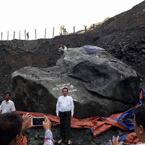 Enormous Jade Boulder Extracted in Myanmar